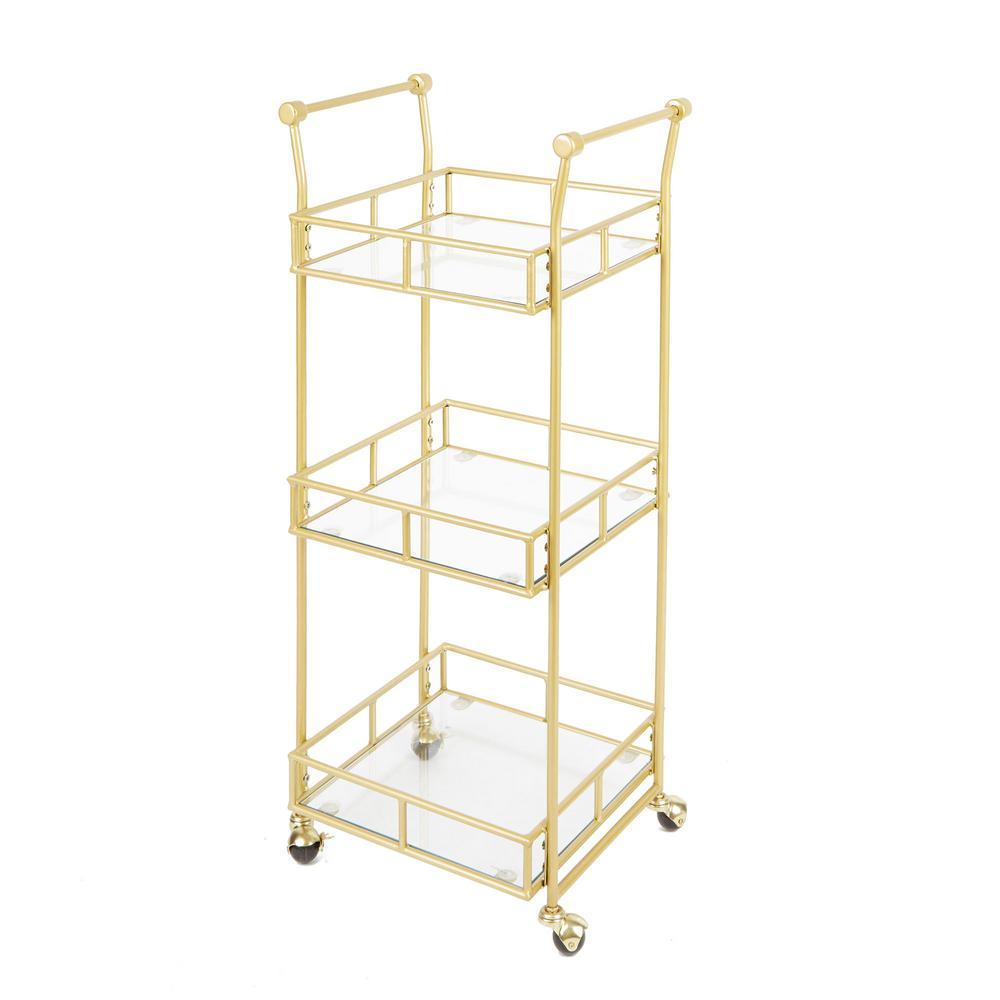 Silverwood Collier 3-Tier Gold Bar Cart