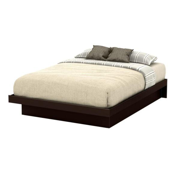 Basic Queen-Size Platform Bed in Chocolate