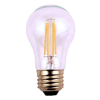 60W Equivalent Soft White Classic Glass A15 Filament Dimmable LED Light Bulb (3-Pack)