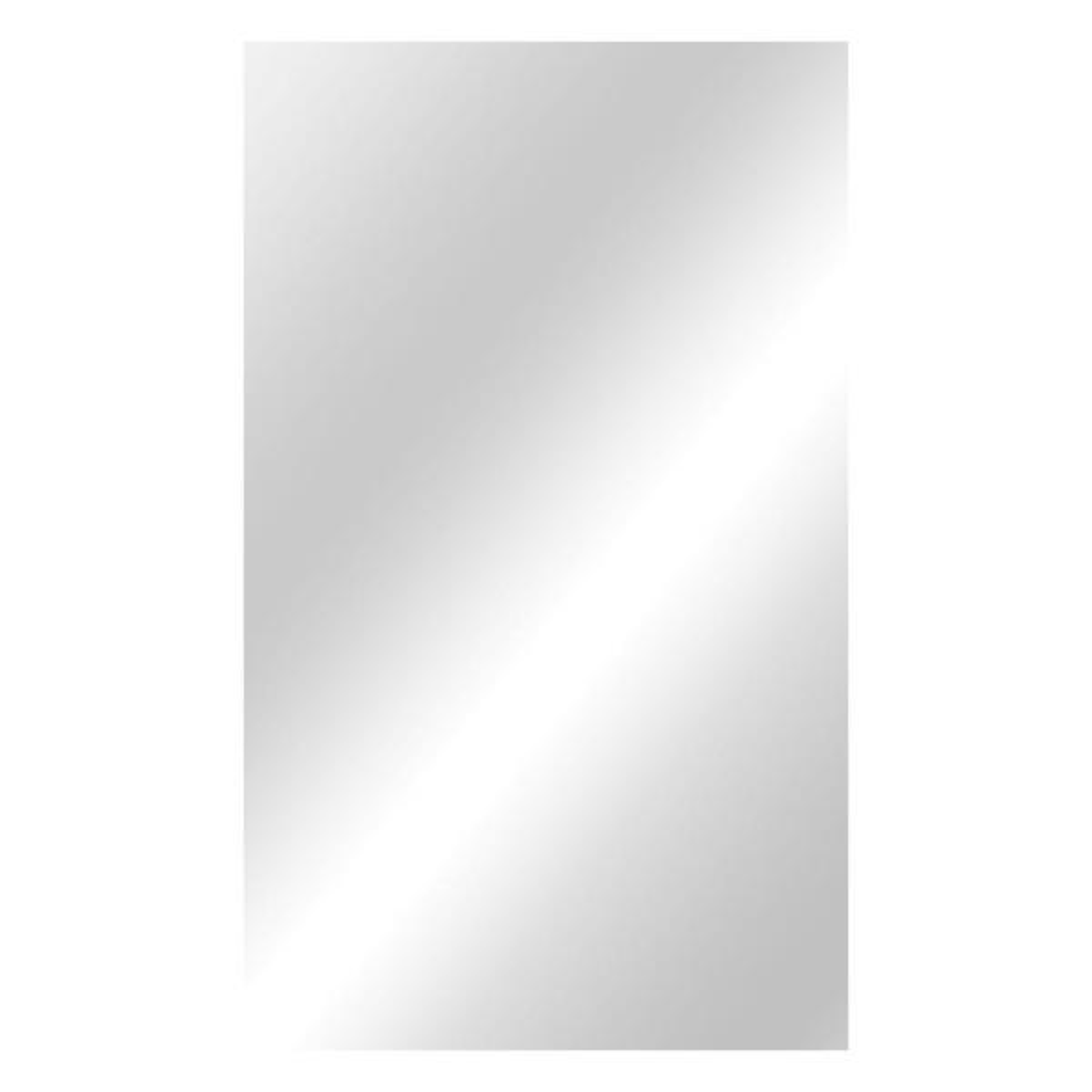 36 in. W x 60 in. H Frameless Rectangular  Bathroom Vanity Mirror in Silver