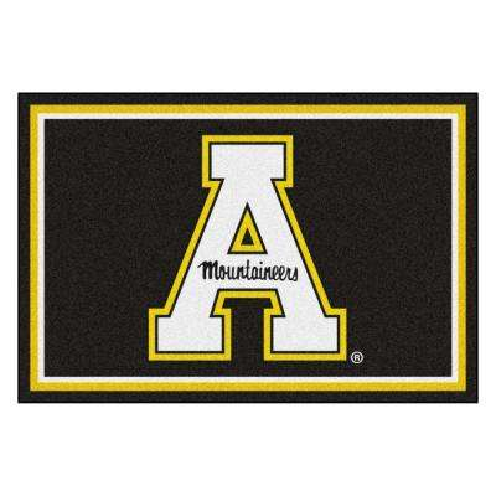 NCAA - Appalachian State Black 8 ft. x 5 ft. Indoor Area Rug