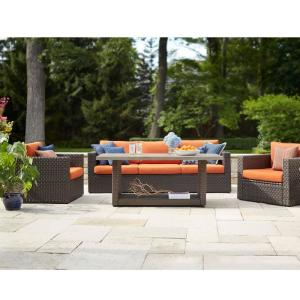 Hampton Bay Moreno Valley 4-Piece Brown Resin Wicker Patio Seating Set with... by Hampton Bay