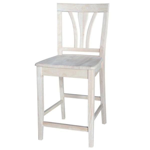 International Concepts 24 in. Unfinished Wood Bar Stool S-9182