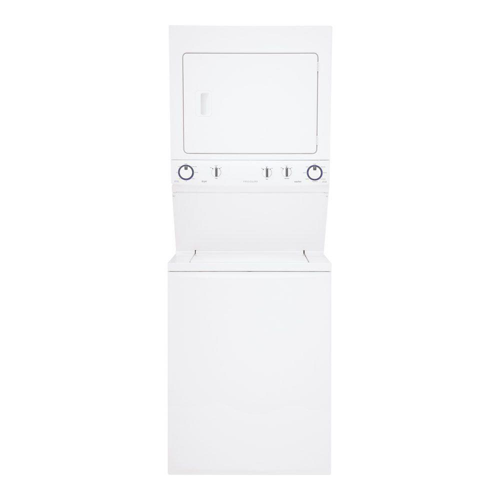 Frigidaire High-Efficiency 2.95 cu. ft. Washer and 5.5 cu. ft. Gas Dryer in White
