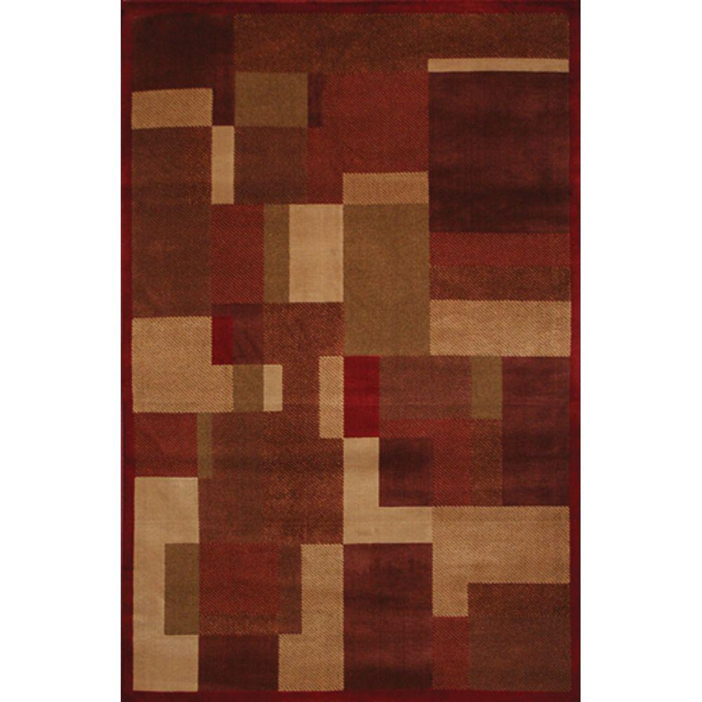 Mohawk Home Timmins Rust 3 ft. 5 in. x 5 ft. 2 in. Area Rug-DISCONTINUED