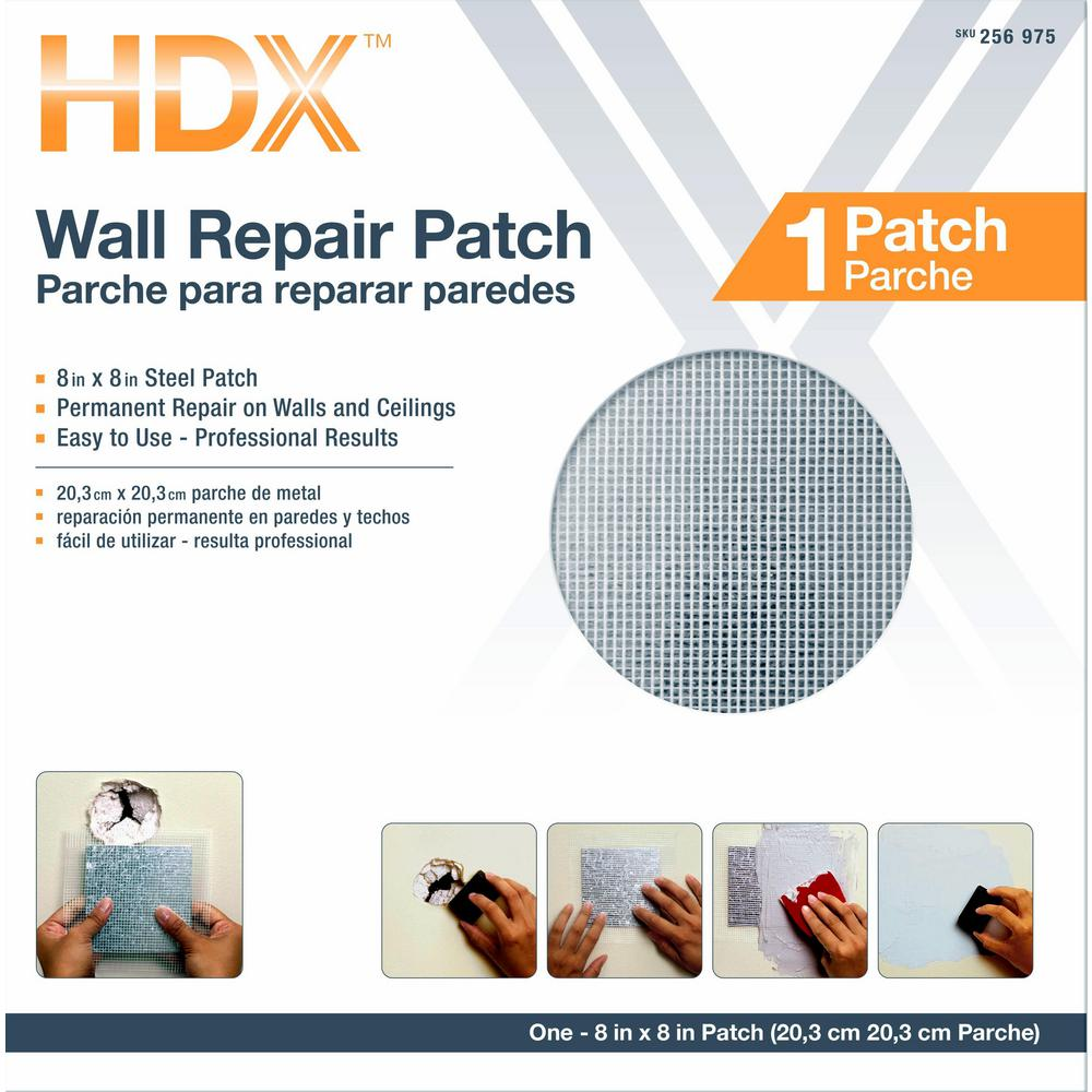 HDX 8 in. x 8 in. Drywall Wall Repair Patch