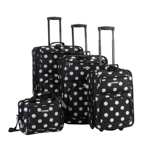 Rockland Rockland Beautiful Deluxe Expandable Luggage 4-Piece Softside Luggage