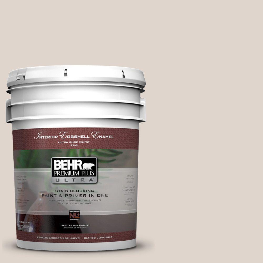 BEHR Premium Plus Ultra 5-gal. #N230-1 Castle Beige Eggshell Enamel Interior Paint