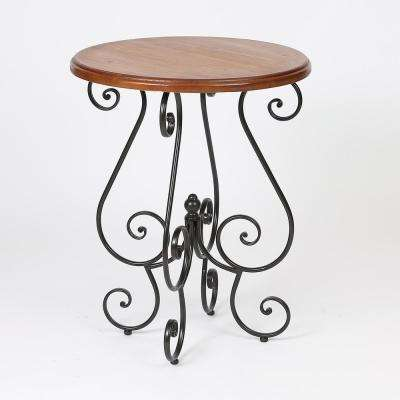 Deco Natural Scroll End Table