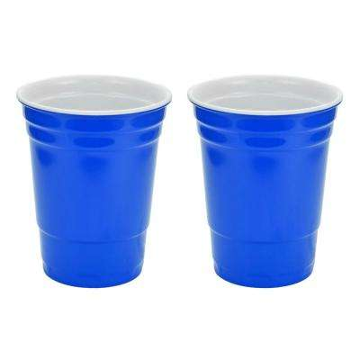 16 oz. Blue Hard Plastic Cup (2-Pack)