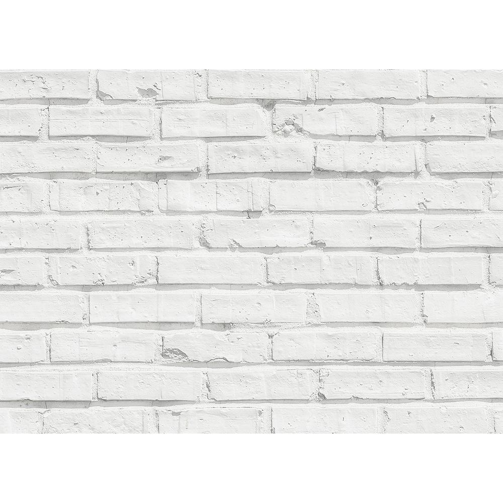 Brewster 25 6 In X 18 5 White Faux Bricks Kitchen Panel Wall