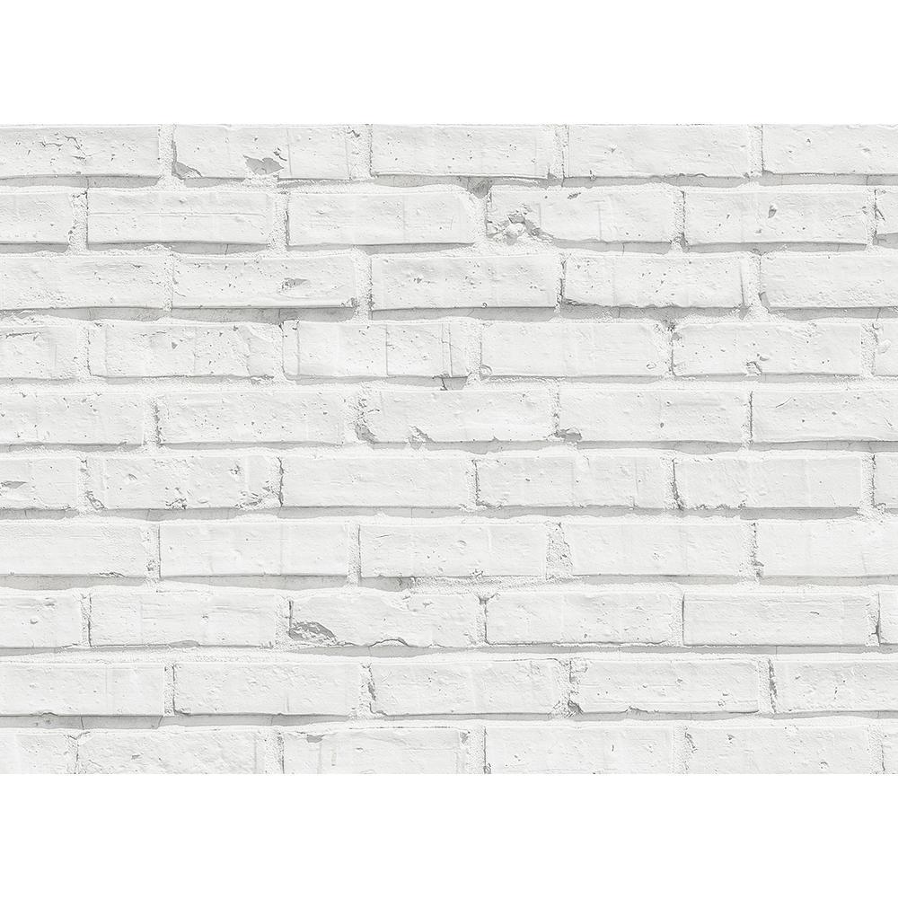 Brewster White Bricks Kitchen Panel Wall Decal