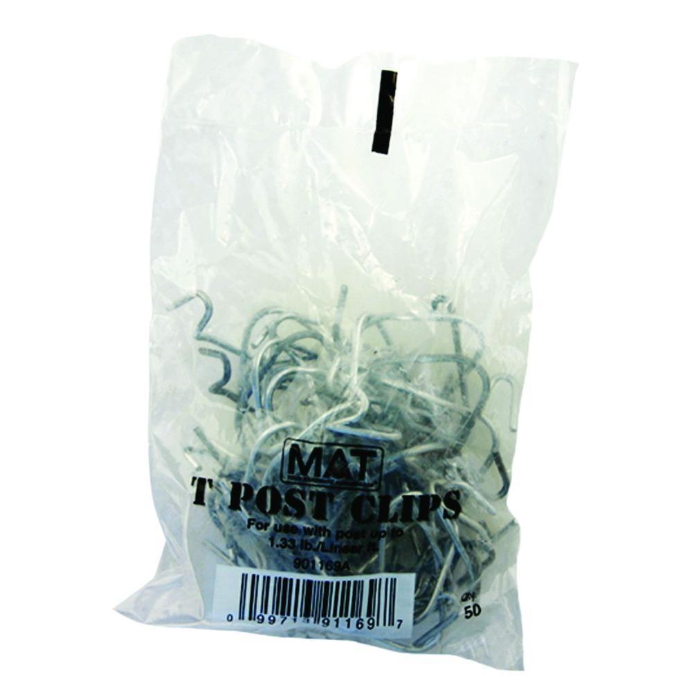 Everbilt Galvanized Steel Fence T-Post Clips (25 per Bag)
