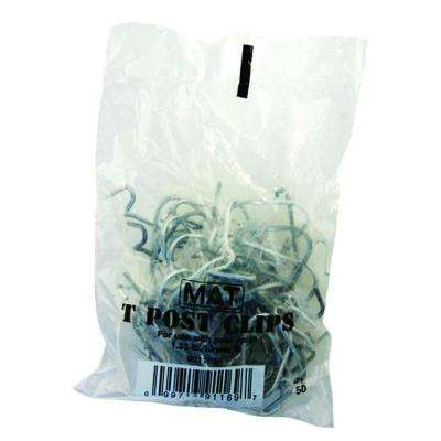 Galvanized Steel Fence T-Post Clips (25 per Bag)