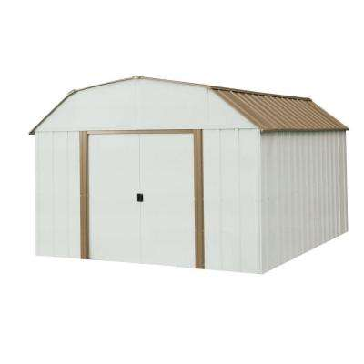 Dakota 10 ft. W x 14 ft. D 2-Tone Galvanized Steel Shed with Galvanized Steel Floor Frame Kit