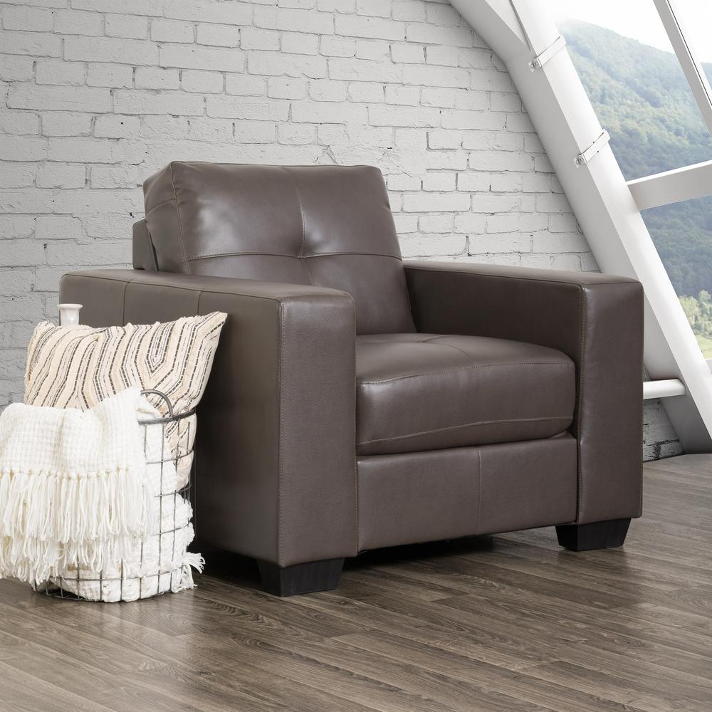 Corliving Club Tufted Brownish Grey