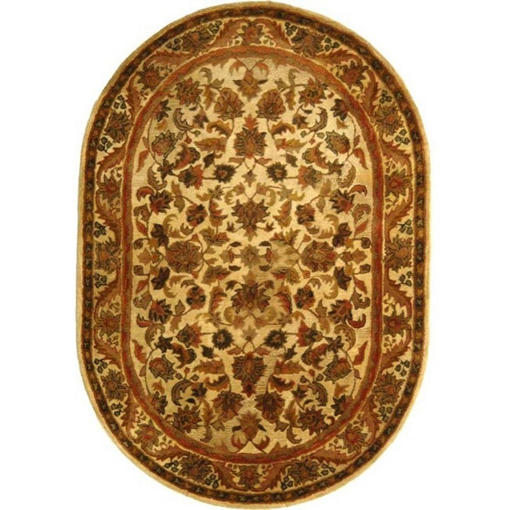 Safavieh Antiquity Gold 4 ft. 6 in. x 6 ft. 6 in. Oval Area Rug