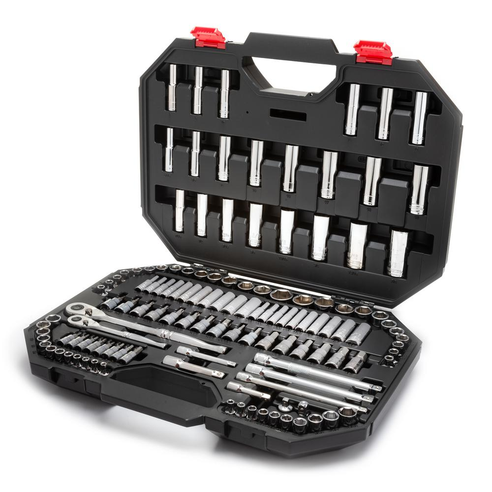 Husky 144 Position 1 4 In And 3 8 In Drive Mechanics Tool Set
