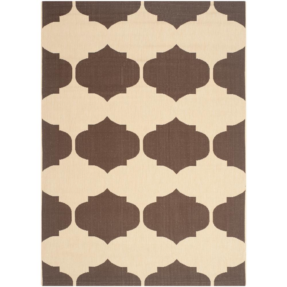 Courtyard Beige/Chocolate 5 ft. 3 in. x 7 ft. 7 in.