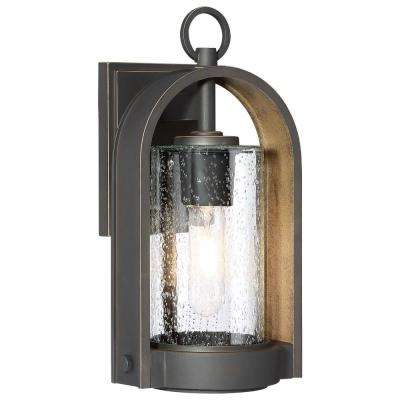 Kamstra 1-Light Oil Rubbed Bronze Outdoor Wall Mount Cylinder