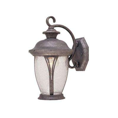 Thatcher Collection Rustic Silver Outdoor Wall-Mount Lantern