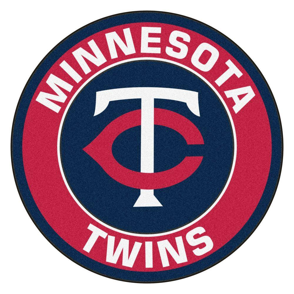 FANMATS MLB Minnesota Twins Red 2 ft. x 2 ft. Round Area Rug