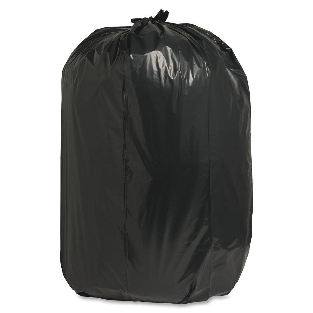 Nature Saver 60 Gal. 38 in. x 58 in. 1.65 mil Recycled Heavy-Duty Trash Liners (100/Box)
