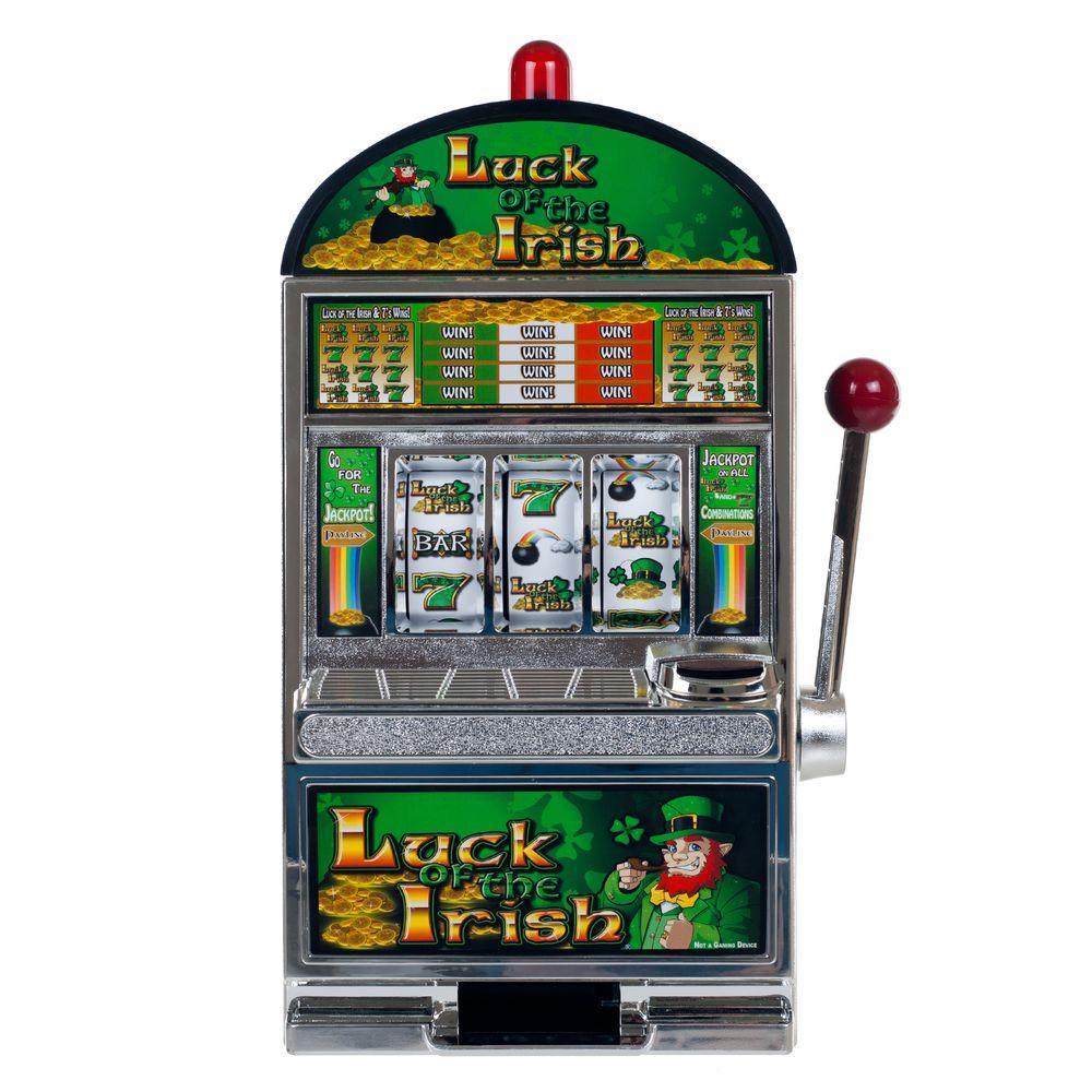 Luck of the Irish Slot Machine Bank
