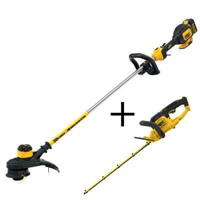 13 in. 20-Volt MAX Lithium-Ion Cordless Brushless String Trimmer with 5.0Ah Battery, Charger and Bonus Hedge Trimmer
