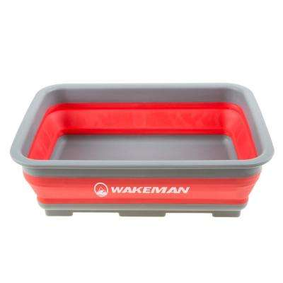 10l Red Collapsible Portable Wash Basin
