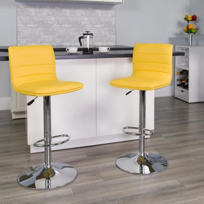 Marvelous Adjustable Yellow Bar Stools Kitchen Dining Room Ibusinesslaw Wood Chair Design Ideas Ibusinesslaworg