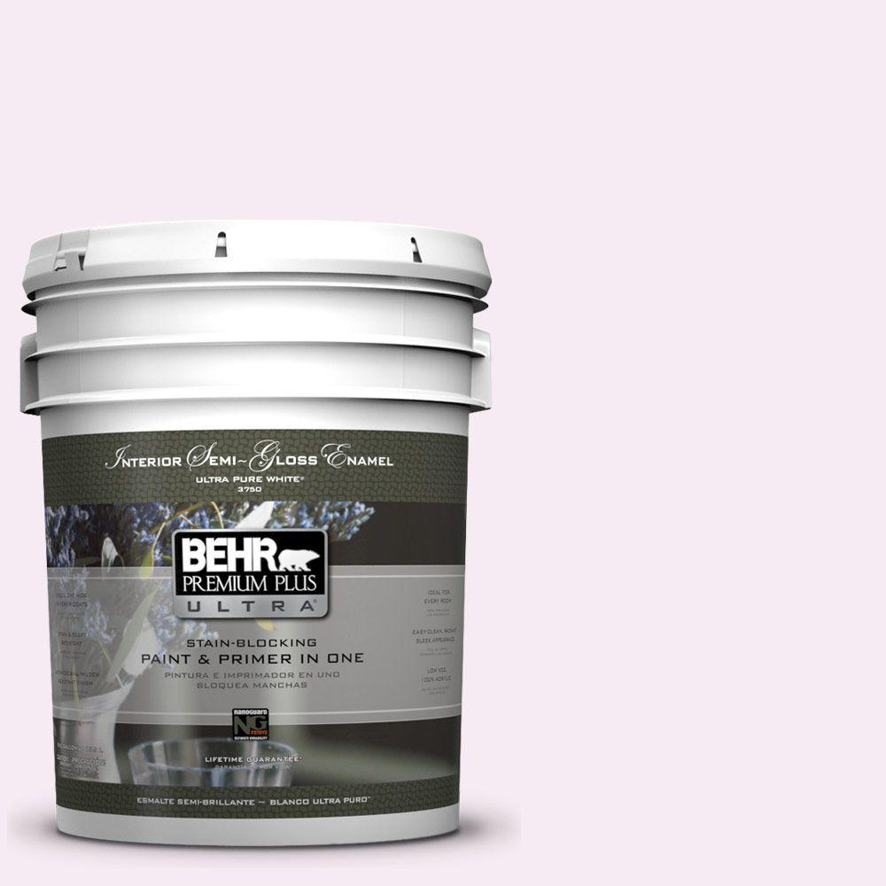 5-gal. #100A-1 Barely Pink Semi-Gloss Enamel Interior Paint