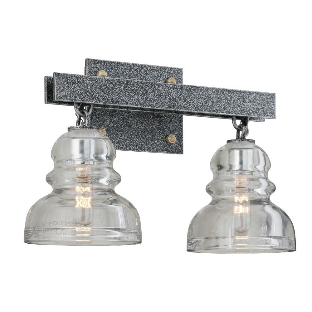 Menlo Park 2-Light Old Silver Vanity Light