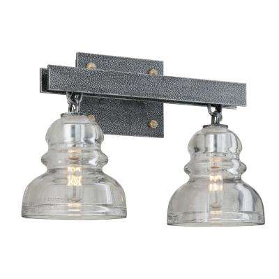 Menlo Park 2-Light Old Silver Vanity Light