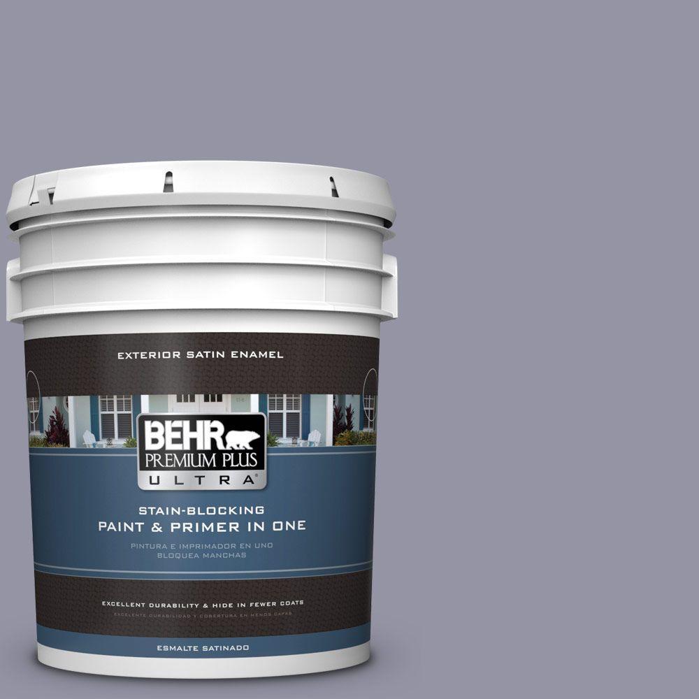 BEHR Premium Plus Ultra 5-gal. #640F-5 Ash Violet Satin Enamel Exterior Paint