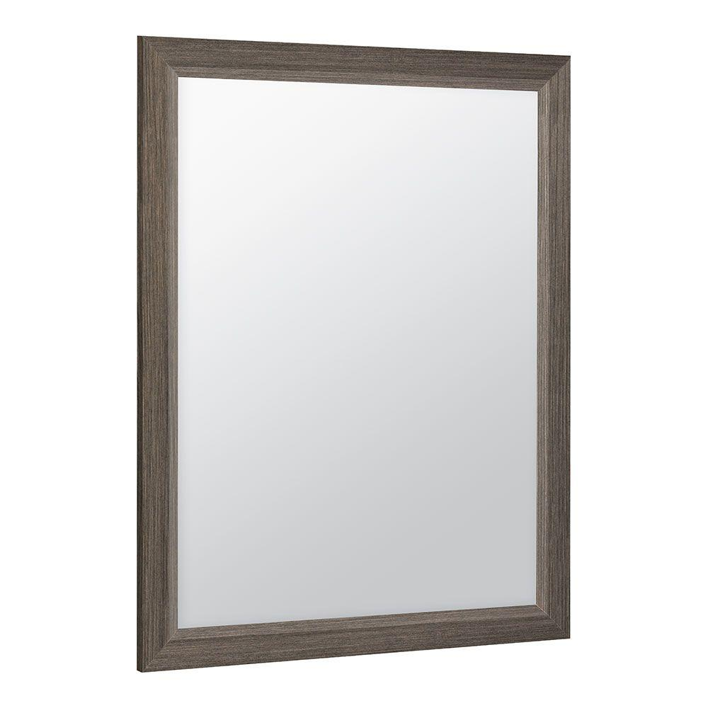 Glacier Bay Shaila 24 in. x 31 in. Single Framed Vanity Mirror in Silverleaf