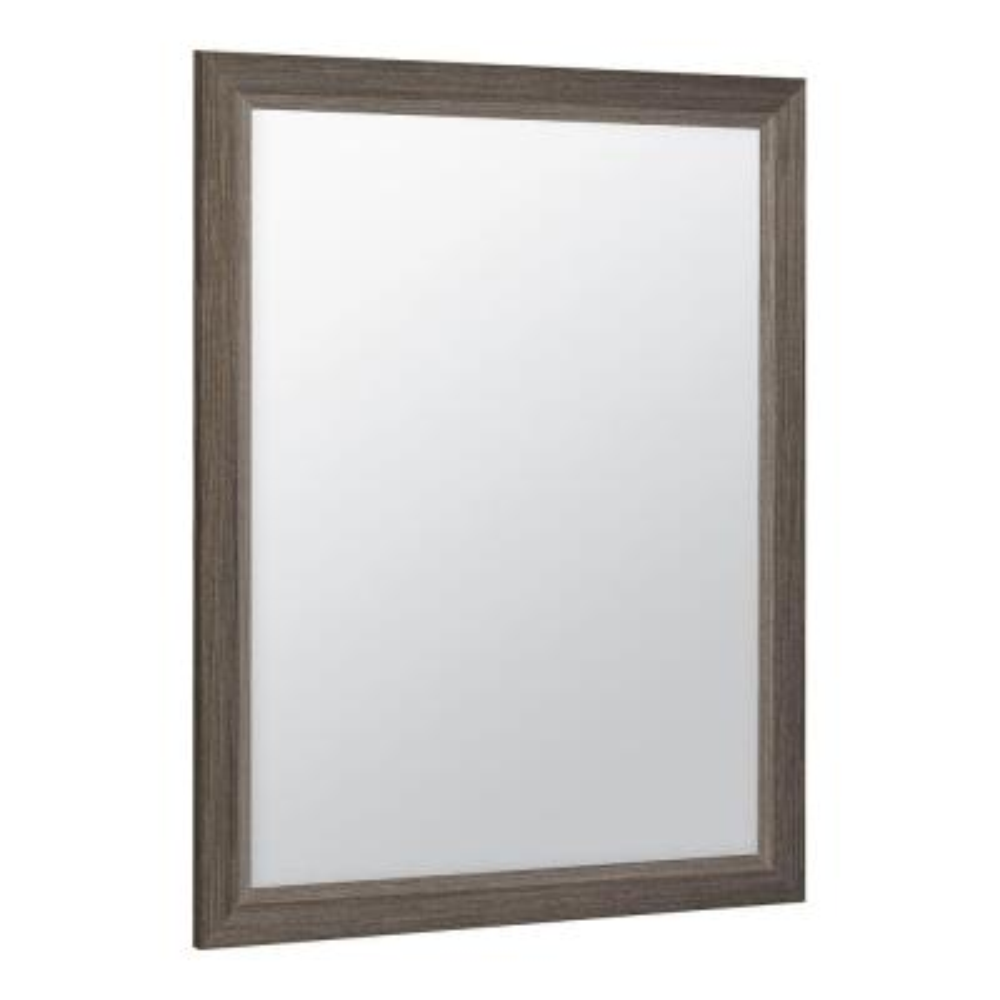 Shaila 24 in. x 31 in. Single Framed Vanity Mirror in Silverleaf