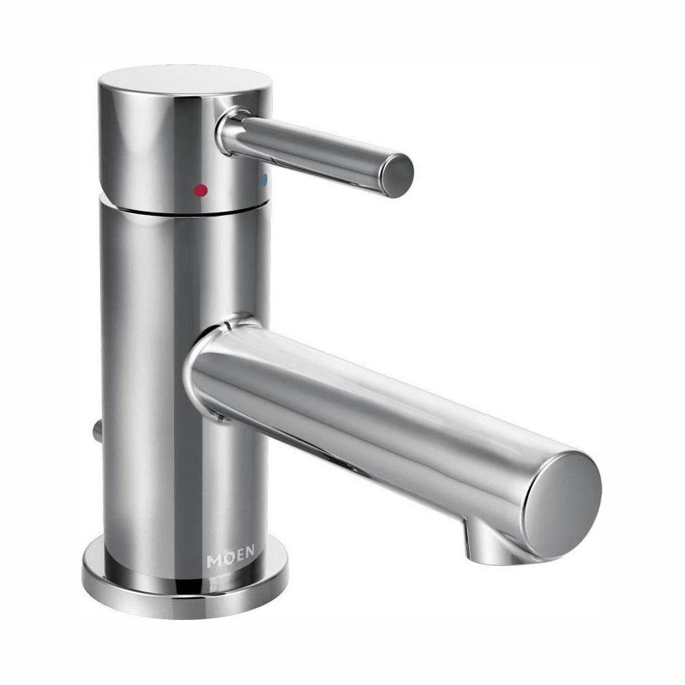 moen align single hole 1-handle bathroom faucet in chrome