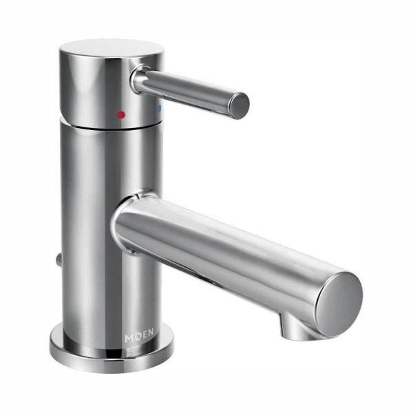 Align Single Hole Single-Handle Low-Arc Bathroom Faucet in Chrome