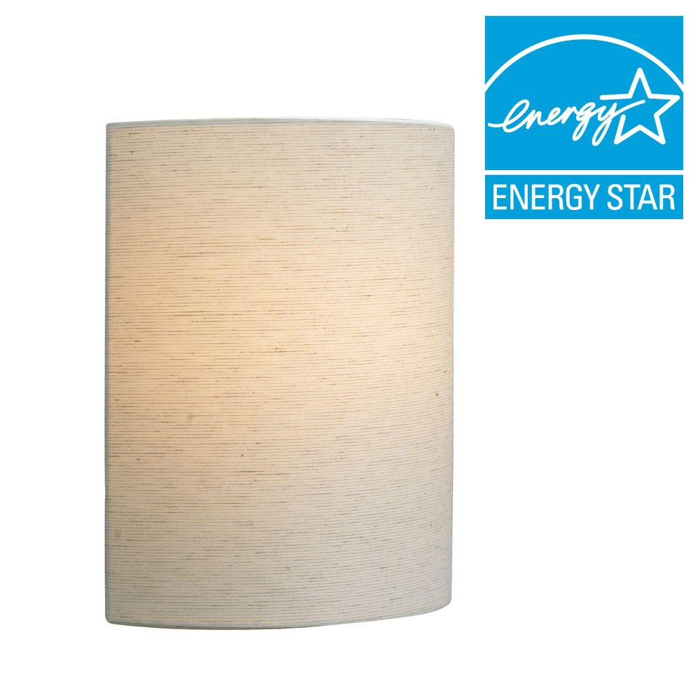 lbl lighting fiona 1 light linen led wall light lw681liled the