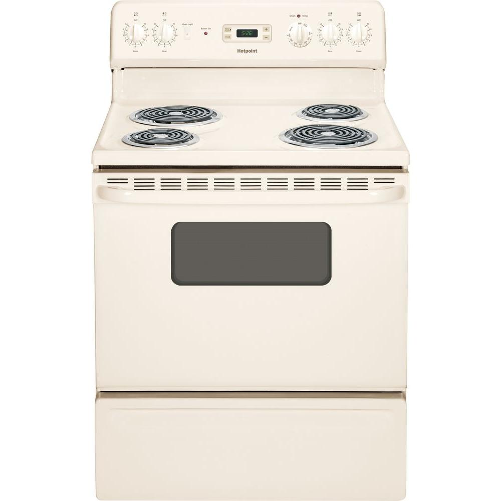 GE 5.0 cu. ft. Electric Range in Bisque