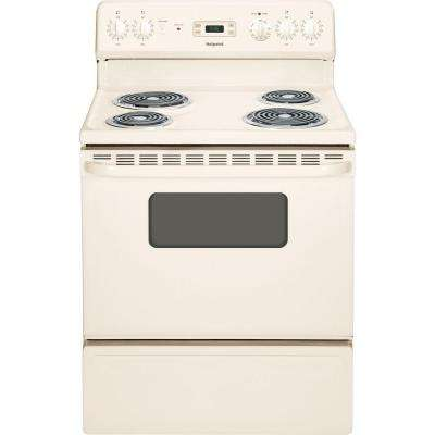 Hotpoint 30 in. 5.0 cu. ft. Electric Range in Bisque