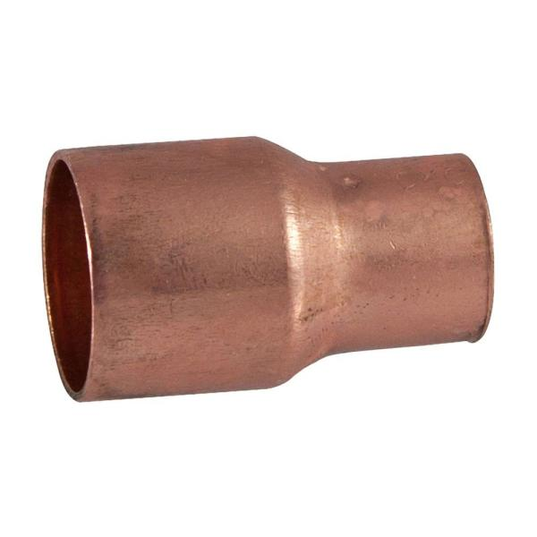 3/4 in. x 1/2 in. Copper Pressure Cup x Cup Coupling with Stop Fitting