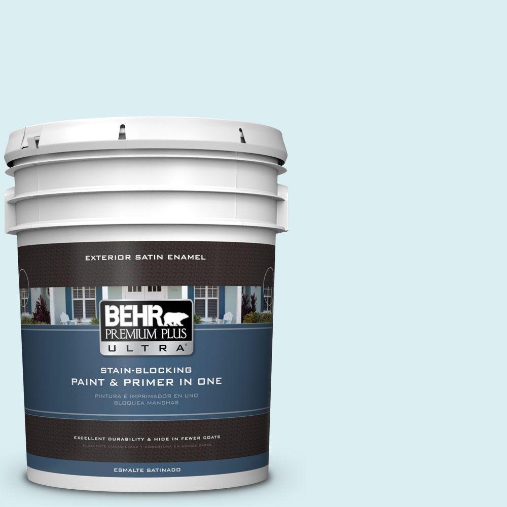 BEHR Premium Plus Ultra 5-gal. #520C-1 Spring Rain Satin Enamel Exterior Paint