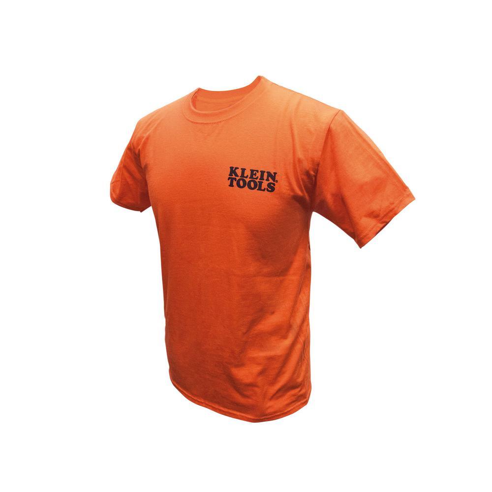 Klein Tools Men's Size Large Orange Cotton Hanes Tagless ...