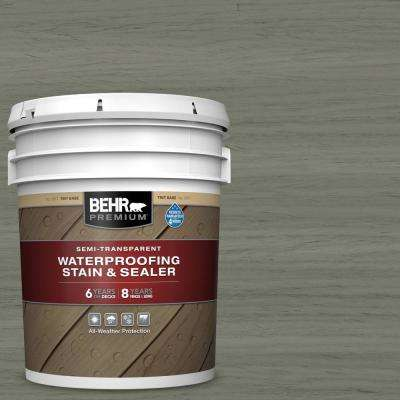 5 gal. #ST-137 Drift Gray Semi-Transparent Waterproofing Exterior Wood Stain and Sealer