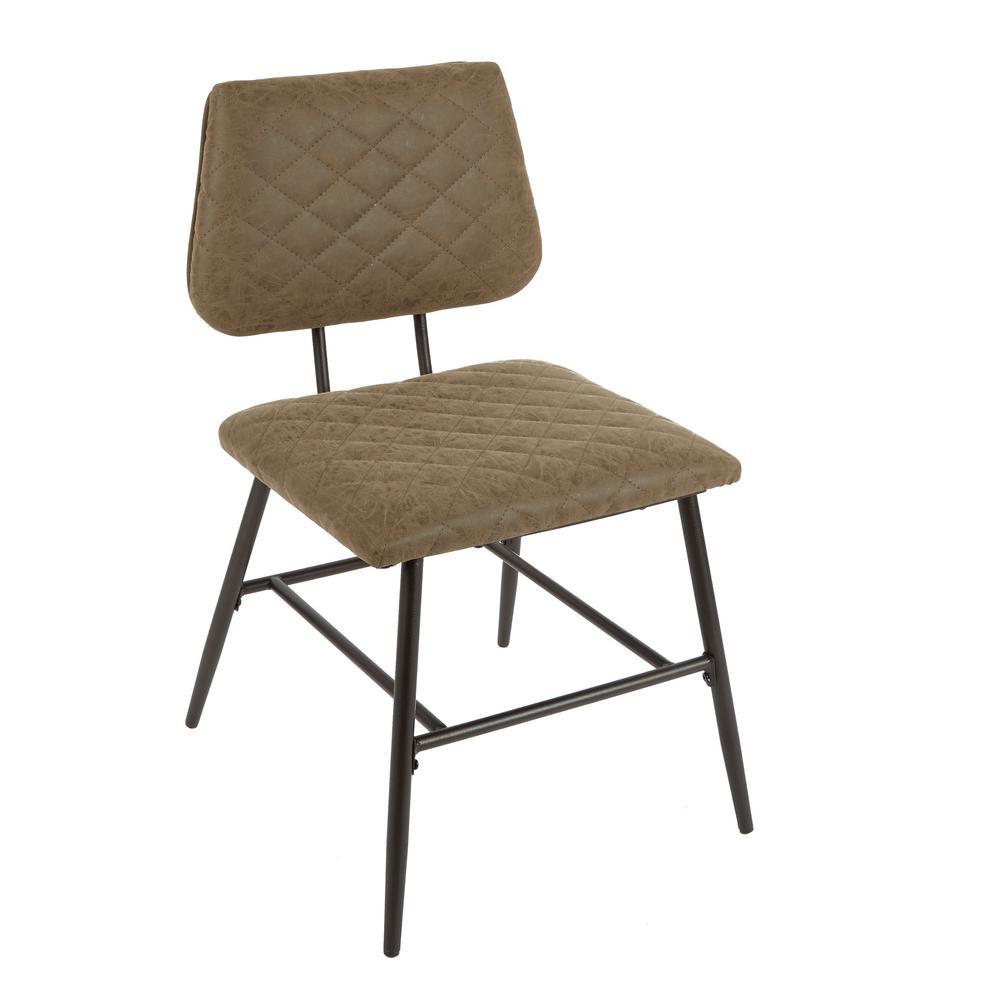 Fine Deandra Brown Diamond Stitching Dining Chair Machost Co Dining Chair Design Ideas Machostcouk