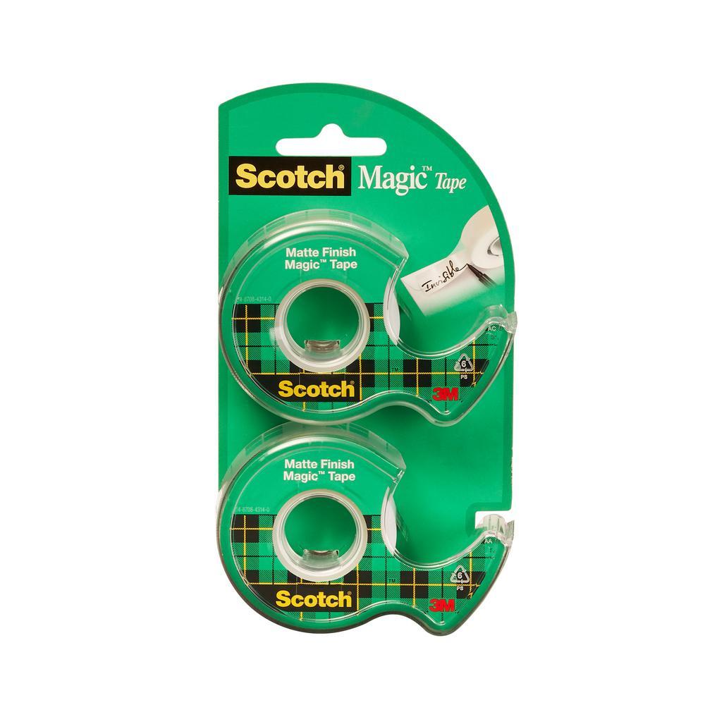 Scotch 3/4 in. x 16.6 yds. Magic Tape (2-Pack) (Case of 36)