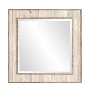 Sawyer Wood Plank Square Mirror by