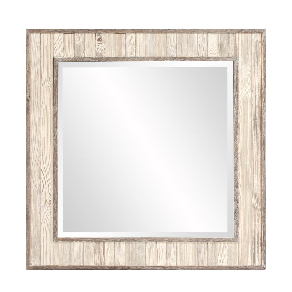 Sawyer Wood Plank Square Mirror